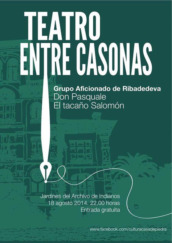 Teatro Entre Casonas. Grupo Aficionado de Ribadedeva. Don Pasquale y El tacaño Salomón. 16.8.2014