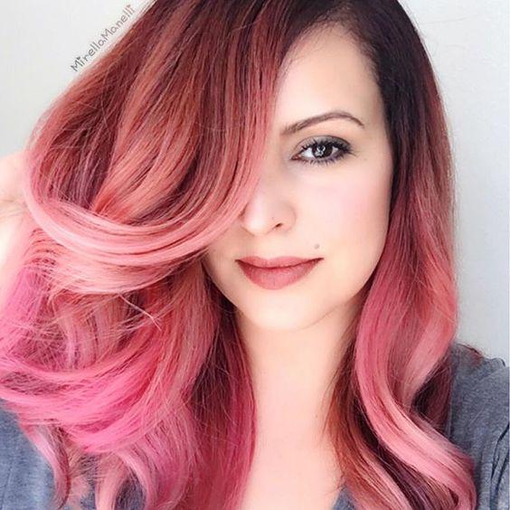 Окрашивание в розовые цвета