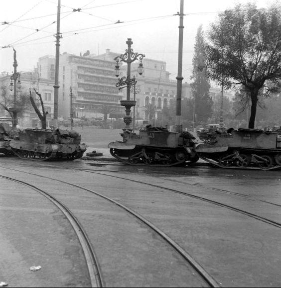December 1944 ~ Syntagma square, Athens (photo by Dmitri Kessel)