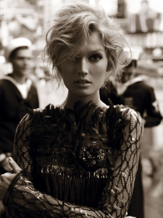 Toni Garrn photographed by Alexi Lubomirski for Vogue Germany, August 2012