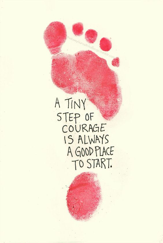 A tiny step = A good start -35 motivational quotes to SLAY your goals - OurMindfulLife.com