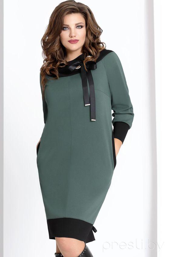 Платье Vittoria Queen 6483/2 изумруд Размерный ряд:52-60 Платье женское свободного силуэта.