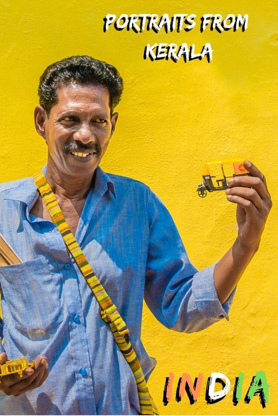 Portrait Street Vendor Kerala