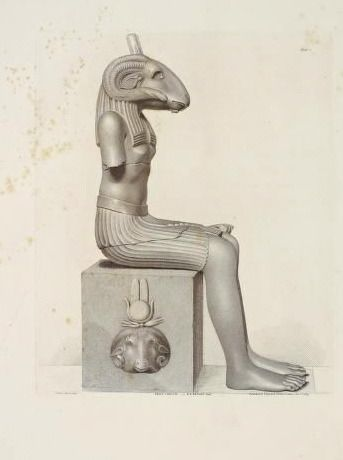 nemfrog: The Egyptian god Khnum. _Specimens of antient...