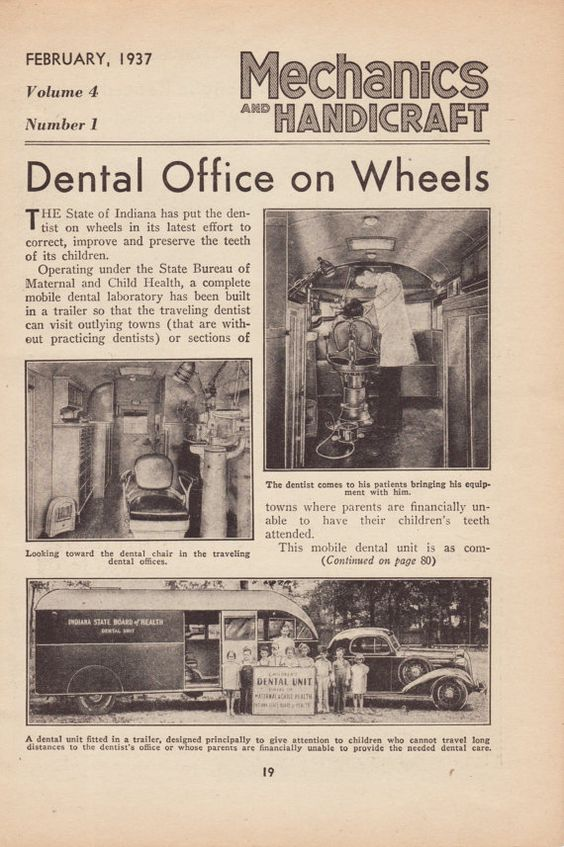 Vintage Magazine Article Dental Office On Wheels by 9MilesOfWonder, $5.00