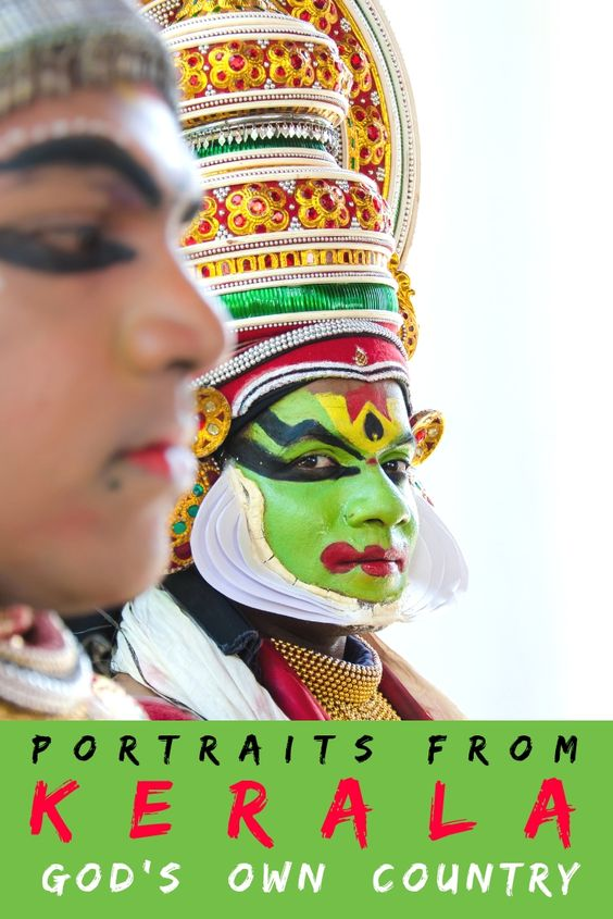 Portrait Kathakali Dancer Kerala