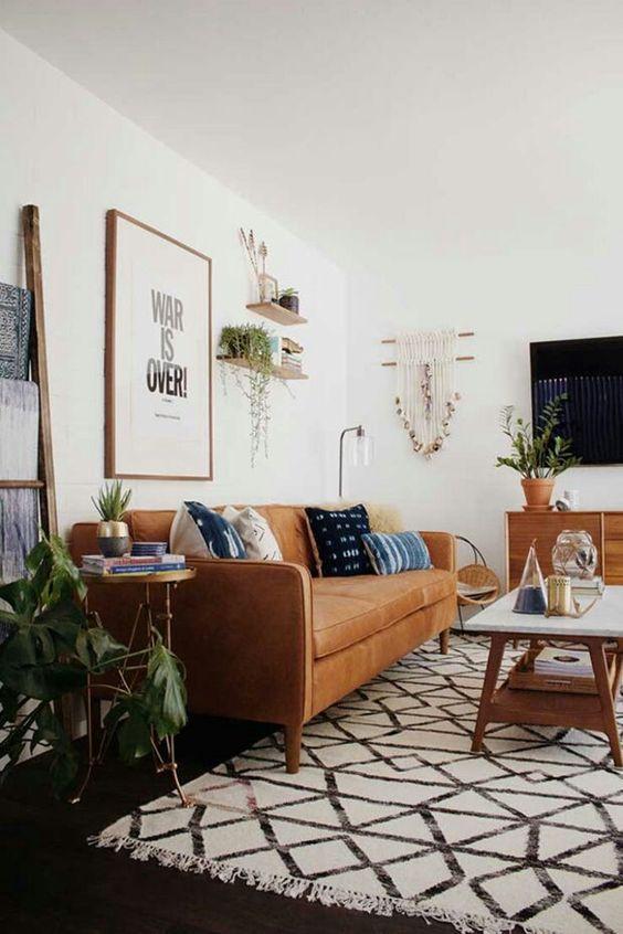 Những lưu ý khi lựa chọn sofa phòng khách hẹp với sofa da tphcm