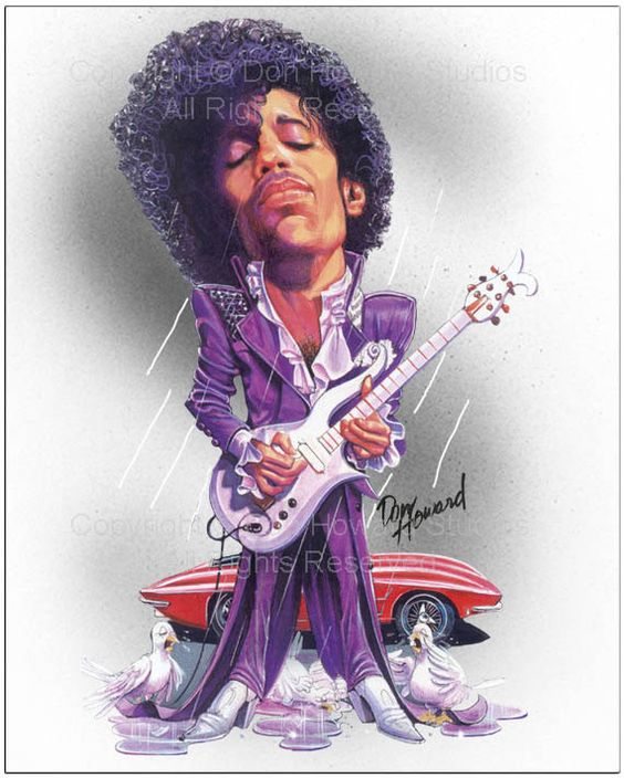 Prince Limited Edition Celebrity Caricature Art Print by Don Howard by DonHowardStudios on Etsy