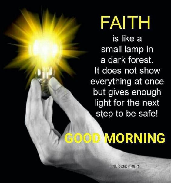 FAITH IS LIKE A SMALL LAMP