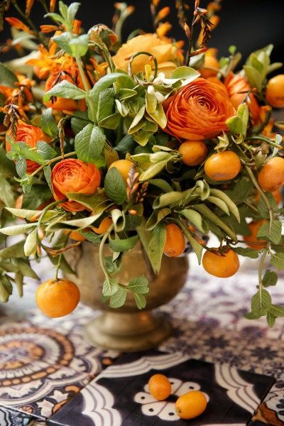 Citrus Arrangement for your Thanksgiving table...