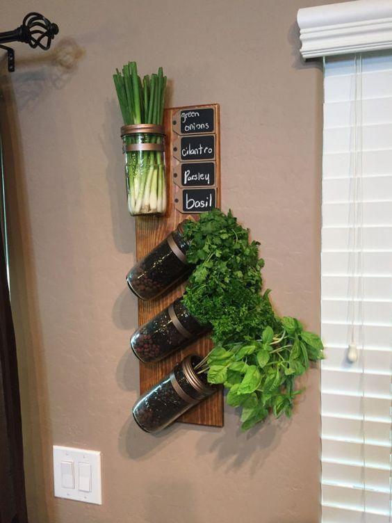 diy jardines verticales de hierbas Más
