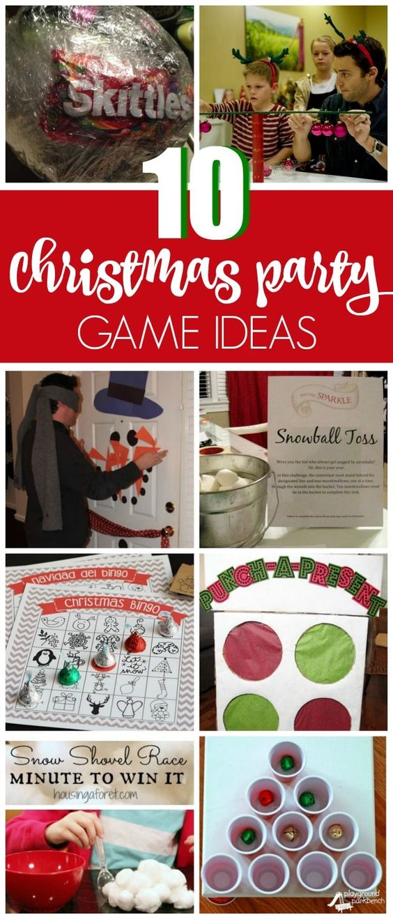 10 Christmas Games Everyone Will Love - Pretty My Party #christmasgames #christmaspartygames #christmaspartygameideas #christmasgamesforadults #christmasgamesforkids