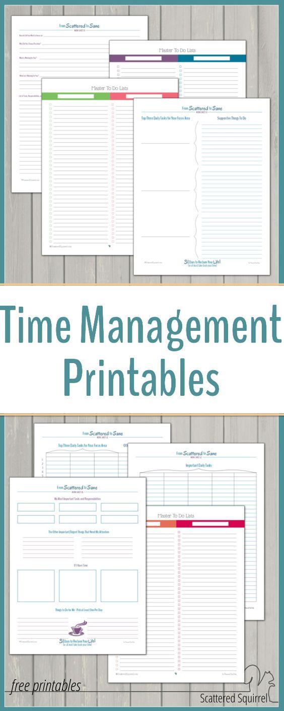 gratis printable voor time management