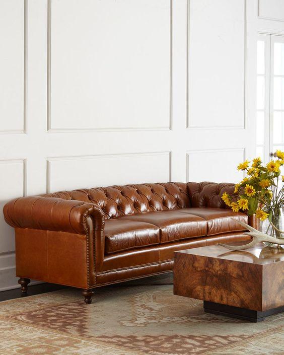 Ngọt ngào sofa da thật tphcm cho phòng khách trẻ