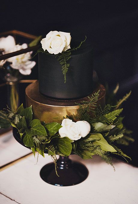 Brides.com: 22 Dark Wedding Cakes