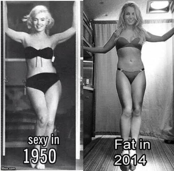 Sexy 1950 vs. Fat 2014  Is media the judge?