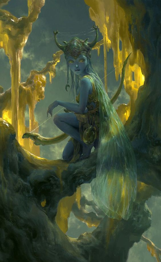 fantasy-art-engine:  Fairy Cave by Tianhua Xu