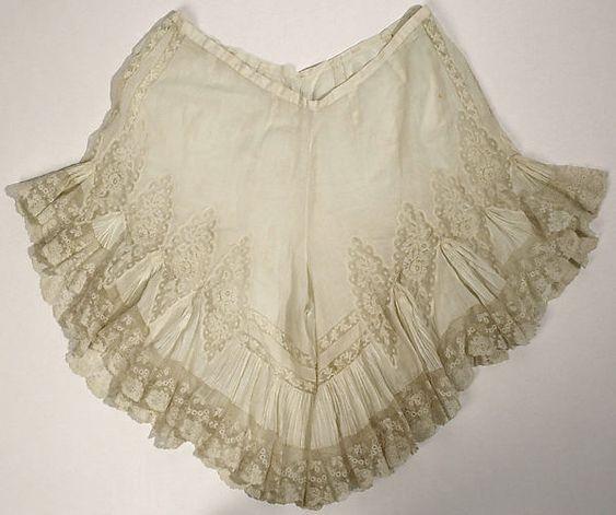 Drawers Date:1900s Culture:American or European Medium:cotton