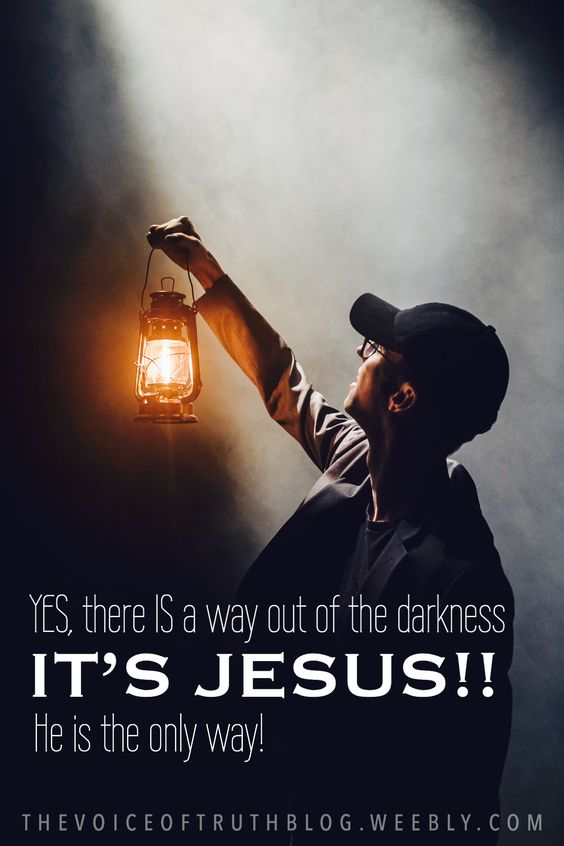 "John 8:12 ""Then Jesus again spoke to them, saying, ""I am the Light of the world; he who follows Me will not walk in the darkness, but will have the Light of life"" ....and.... John 12:46 ""I have come as Light into the world, so that everyone who believes in Me will not remain in darkness"""