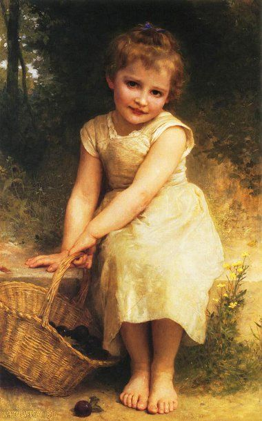 Les prunes-William Adolphe Bouguereau, 1825–1905, French ✿⊱╮