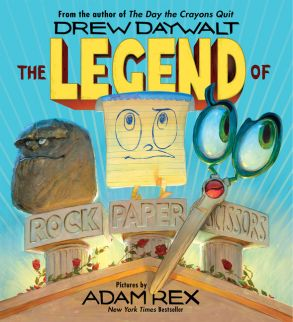 The Legend of Rock, Paper, Scissors | Drew Daywalt and Adam Rex | Harper Collins publication | 4 - 4 - 2017 | ISBN: 9780062438898
