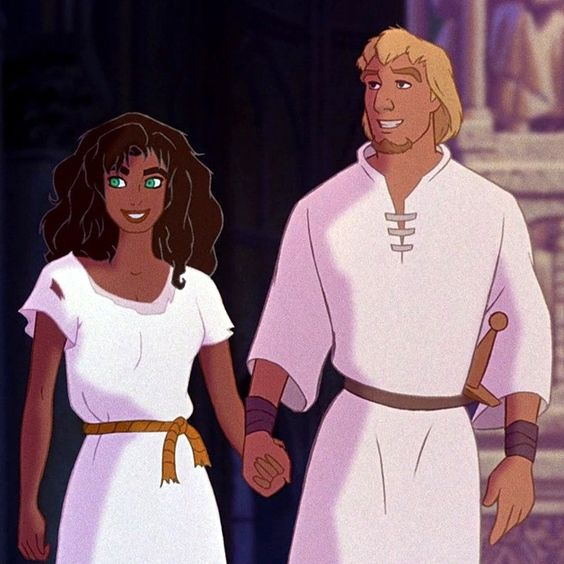 Day 9 Favorite Couple: Esmeralda and Phoebus. I just love their sarcastic attitude towards each other. They're absolutely adorable without being lovey dovey. They fight with each other mentally and physically but in a playful way. It's just wonderful to watch!
