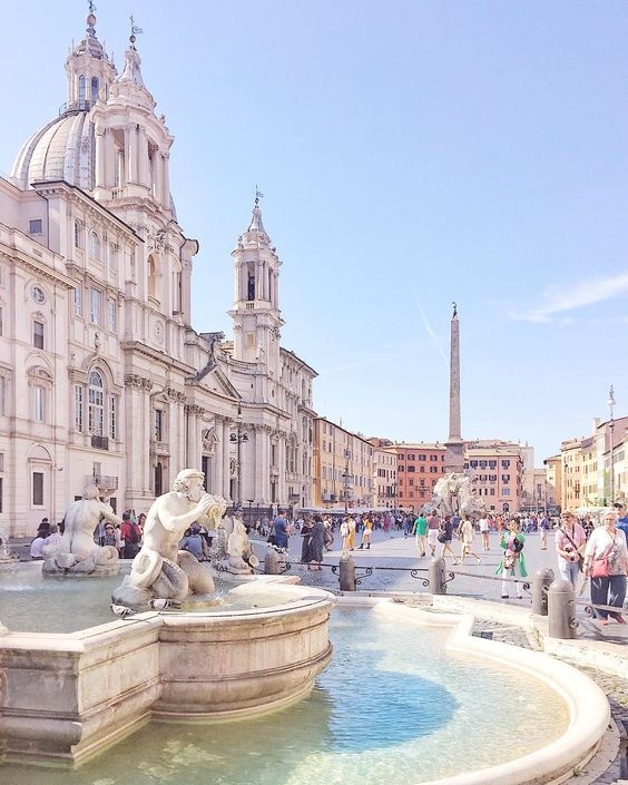 Площадь Пьяцца Навона, Рим, Италия