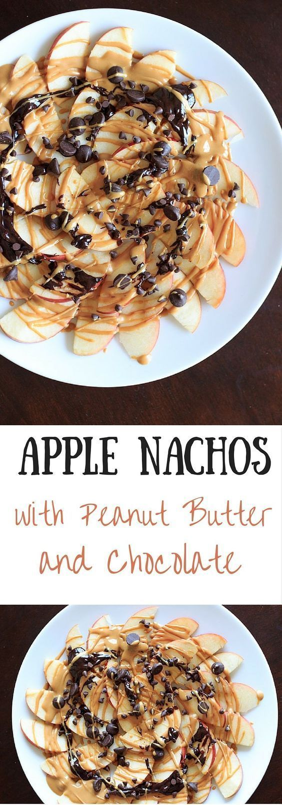Apple Nachos With Peanut Butter And Chocolate