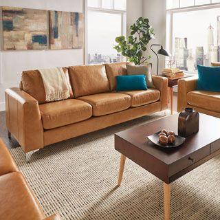 Phòng khách sang trọng hơn với sofa da thật tphcm