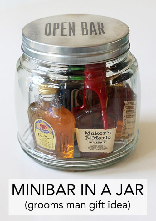 DIY Minibar in a Jar - 18 Sweet DIY gift ideas for him - TodayWeDate.com