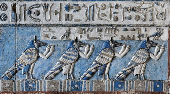 The sculptured #Dendera zodiac (or Dendera #Zodiac) is a widely known Egyptian bas-relief from the ceiling of the pronaos (or portico) of a chapel dedicated to #Osiris in the #Hathor #temple at Dendera, containing images of Taurus (the bull) and the Libra (the scales).
