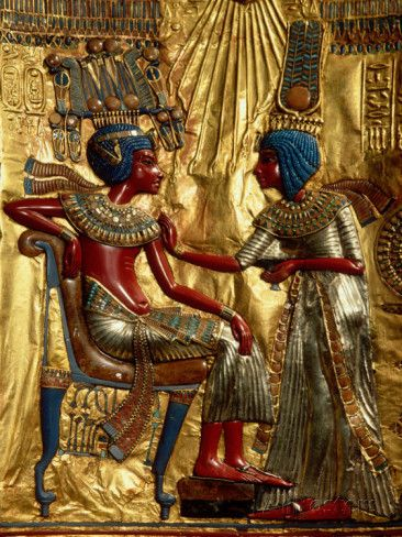 Gold Throne Depicting Tutankhamun and Wife, Egypt Photographic Print by Kenneth Garrett at AllPosters.com