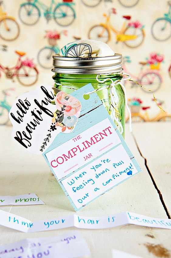 A Compliment Jar as a birthday gift for husband - Todaywedate.com
