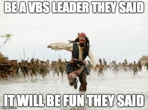 hahaha, I love helping with VBS, but this is still funny!