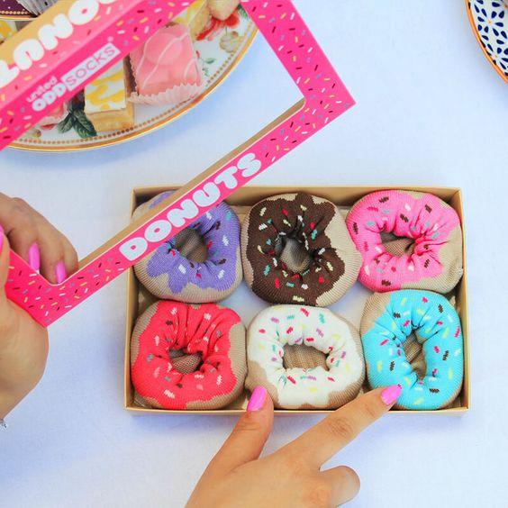 Krispy Kreme Style Tray Of Donut Inspired Socks