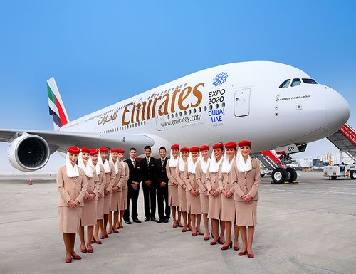 Emirates airlines for a vast experience