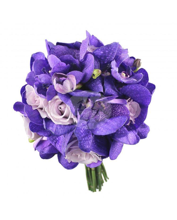 Buchet De Mireasa Cu Orhidee Vanda Mov Bm185