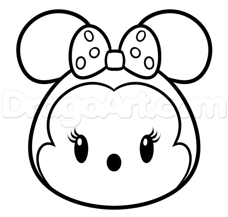 Tsum Coloring Pictures To Color Draw Tsum Tsum Minnie Mou