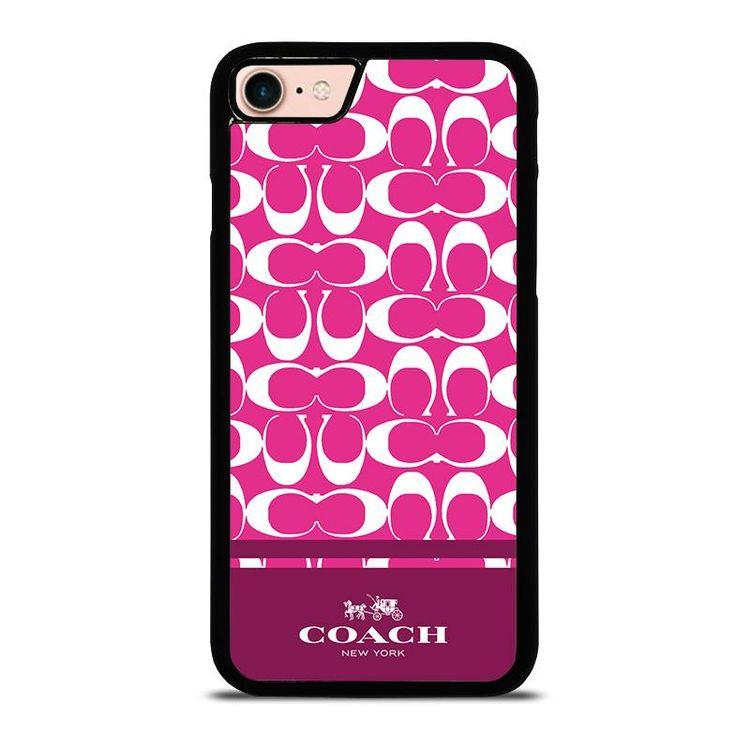 eda7cc10 COACH PINK NEW YORK iPhone 8 Case Cover