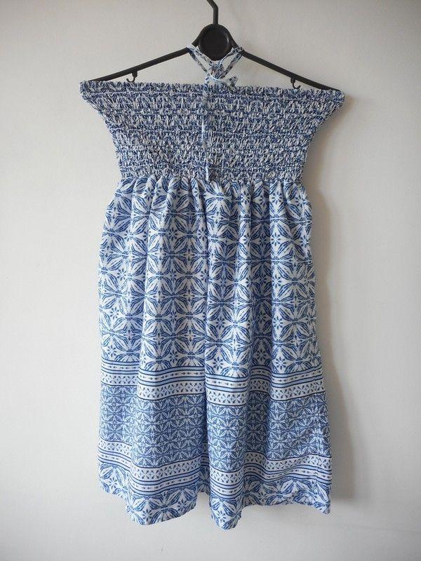 d50e61ffeb Biała sukienka wzorki r. 34   36 - Ocean Club - vinted.pl