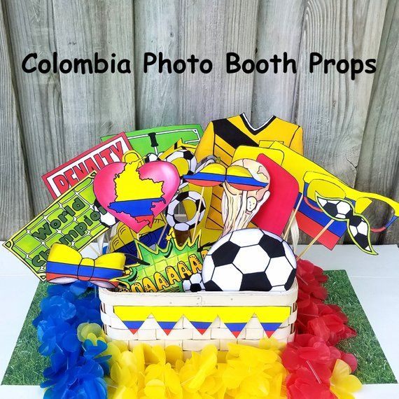 677cd0cf34d World Cup COLOMBIA soccer photo booth props - the ultimate fan accessory -  2018 FIFA Soccer Champio