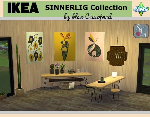 Sims 4 CC's - The Best: Ikea Sinnerlig Collection by Sims