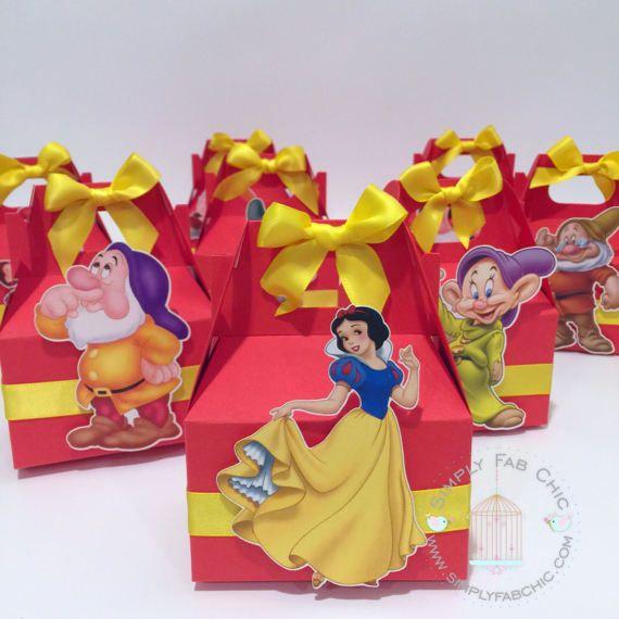 Stupendous Snow White 7 Dwarfs Favor Box Disney Princess Favor Boxes Interior Design Ideas Clesiryabchikinfo