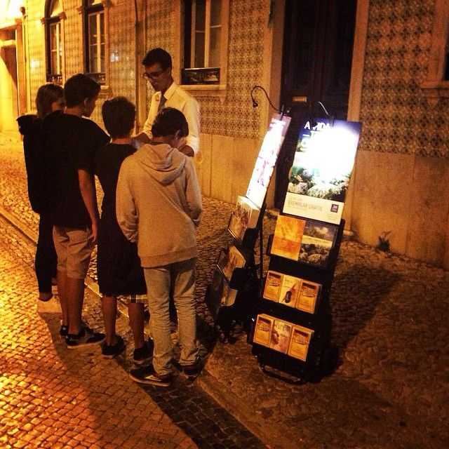Public witnessing at 11:30 pm in Ericeira, Portugal  These