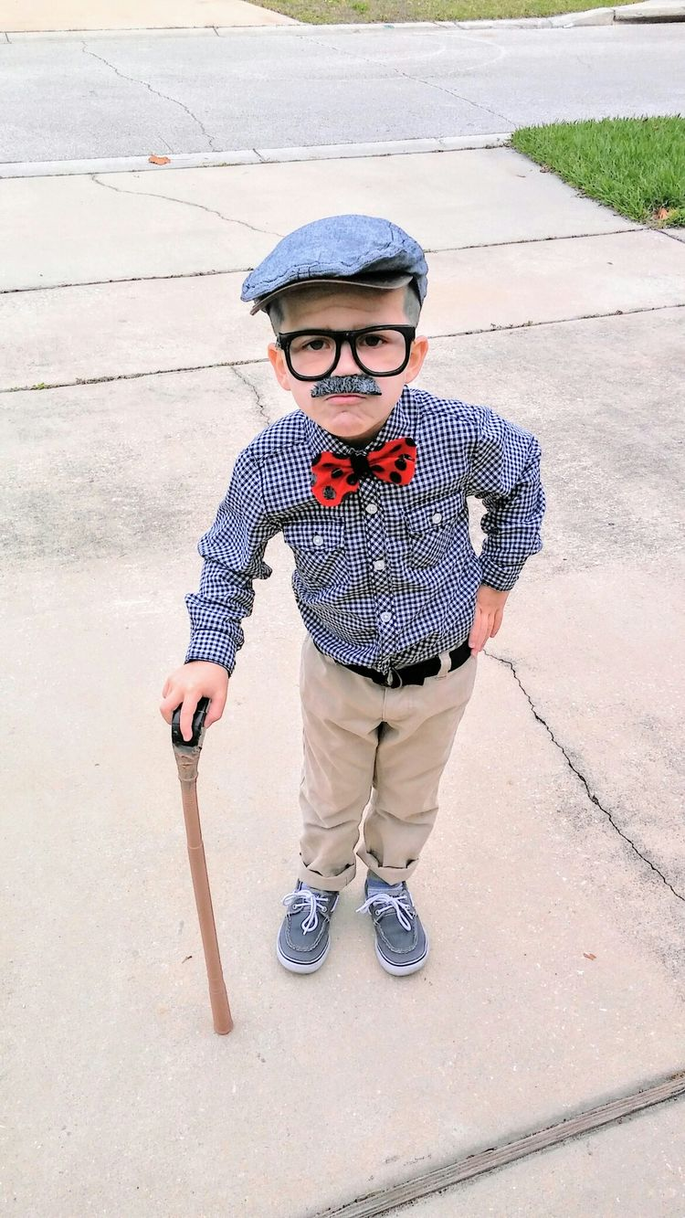 100th day of school/old man costume for kids  Mustache, gla
