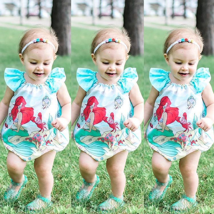 3bc4dd3eb Toddler Newborn Baby Girl Ruffle Clothes Cotton Romper Bodysuit Jumpsuit  Outfits
