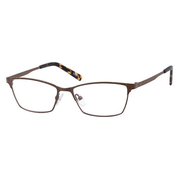21780a0bc404 Zenni Womens Cat-Eye Prescription Eyeglasses Brown Tortoiseshell Stainless  Steel 326015
