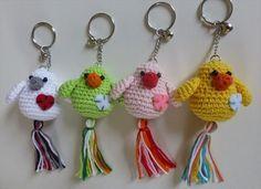 5a5ab9921 62 Easy Handmade Fun Crochet Pattern Keychains