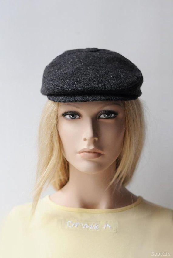 668a02852c4 Womens ivy cap charcoal Womens newsboy hat Mens newsboy cap Baker boy hat  Grey newspaperboy hat Gray